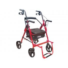 Drive Andadera 795BU Rollator con Bolsa Color Negro con Rojo - Envío Gratuito