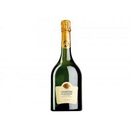 Estuche con Champagne Taittinger Comtes 750 ml + 4 Copas - Envío Gratuito