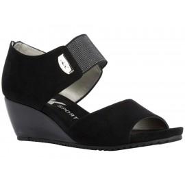 Zapato abierto Anne Klein negro - Envío Gratuito