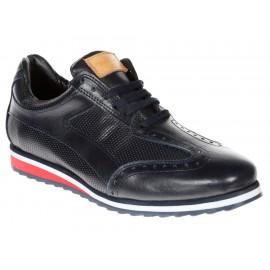 Zapato derby Michel Domit piel azul - Envío Gratuito