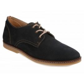 Dockers Zapato de Piel con Agujeta Azul - Envío Gratuito
