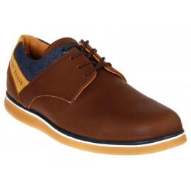 Zapato derby Perry Ellis piel café - Envío Gratuito