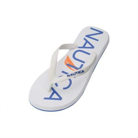 Nautica Sandalia Con Logotipo Blanca - Envío Gratuito