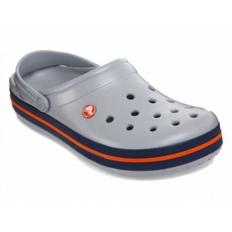 Crocs Sandalia Crocband Light Gris Claro - Envío Gratuito