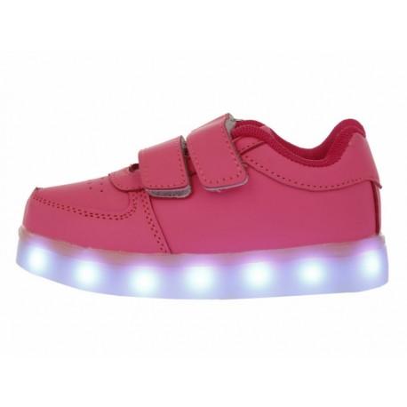 XBLINKS Tenis con luces de LED recargable velcro para niña - Envío Gratuito