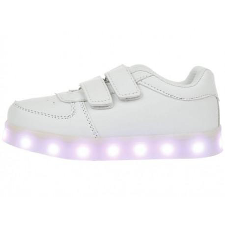 XBLINKS Tenis con luces de LED recargable velcro unisex - Envío Gratuito