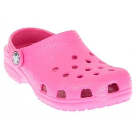 Crocs Suecos Lisos Candy Pink para Niña - Envío Gratuito