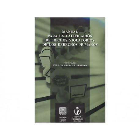 Manual para la Calificacion de Hechos Violatorios Der Humanos - Envío Gratuito