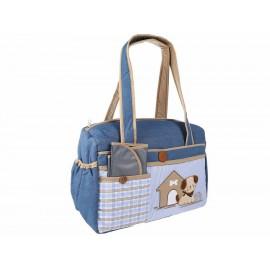 Pañalera tipo satchel Carmen Patricia Yakon azul - Envío Gratuito