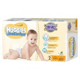 Pañales Huggies Ultraconfort Etapa 2 unisex 40 piezas - Envío Gratuito
