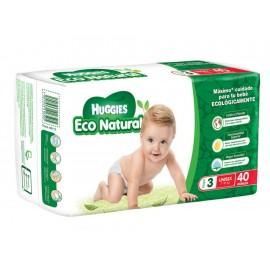 Pañales Huggies Eco Natural Etapa 3 unisex 40 piezas - Envío Gratuito