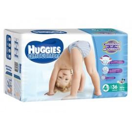 Pañales Huggies Ultraconfort Etapa 4 para niño 36 piezas - Envío Gratuito