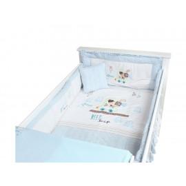 Juego de cuna Mon Caramel Cochesitos 95 cm x 140 cm azul - Envío Gratuito