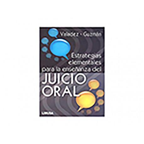 Estrategias Elementales para la Enseñanza del Juicio Oral - Envío Gratuito