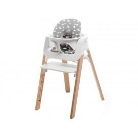 Cojín para silla alta Stokke Steps de algodón gris - Envío Gratuito